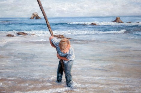 TitleBig stick and Boy   MediumPhotography and oil painting   Size16x12