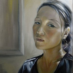 "Title Self Portrait Medium oil on canvas Size 16""X20"""