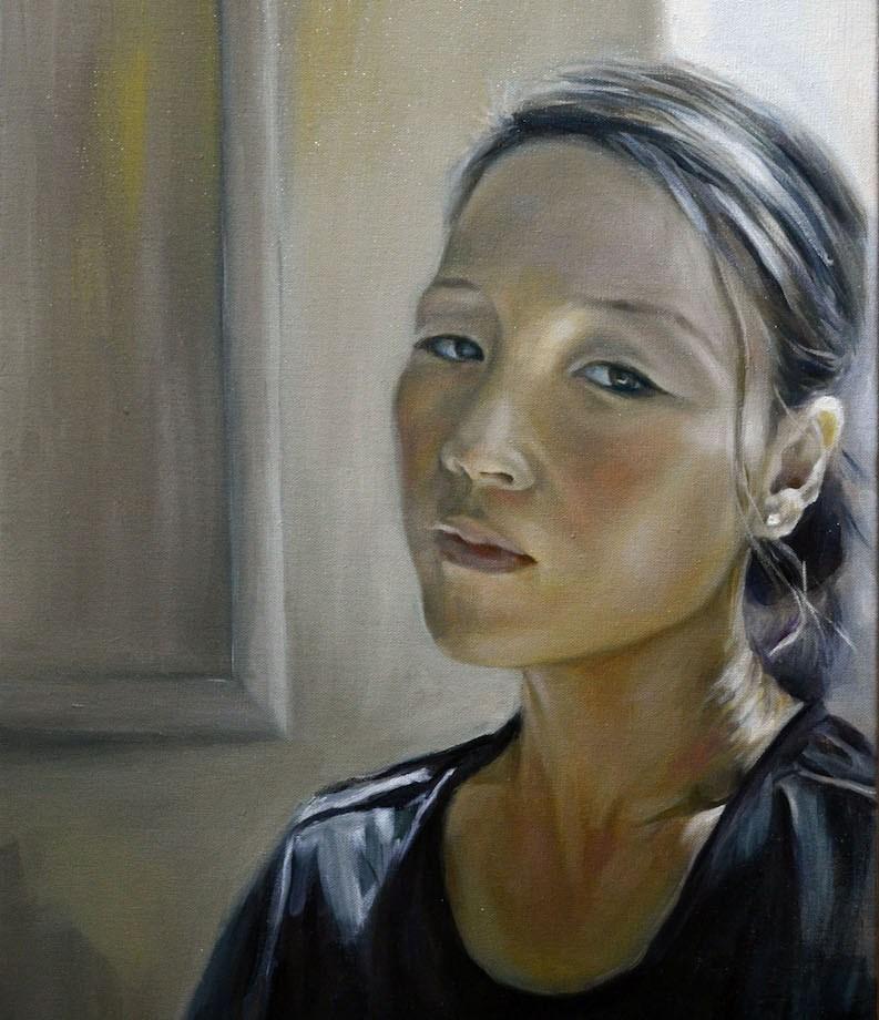 "Title Self Portrait Medium oil on canvas Size 16""X20"""