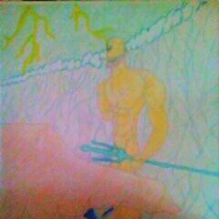 Title:Inspired by Poseidon Medium:arcylic oil Size:8x10