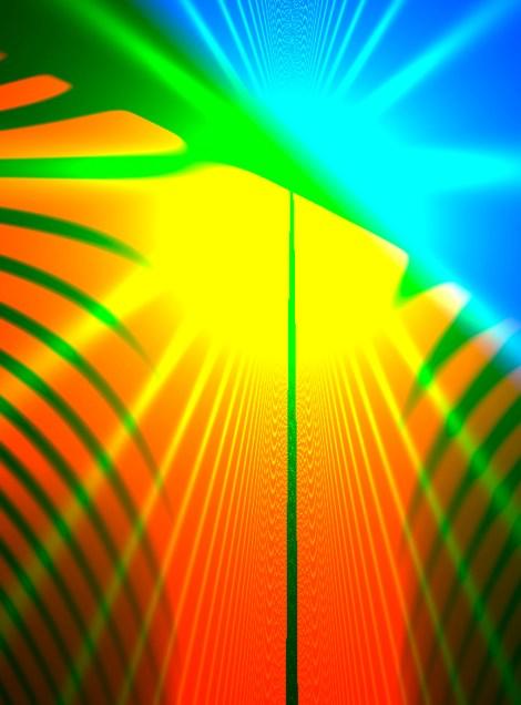 "Title:A Tropical Light Medium:monoprint Size:17.5"" h x 12.5"" w"