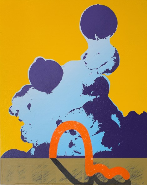 "Title:Colorscape No.01 Medium:Acrylic and Aerosol on panel Size:8"" x 10"""