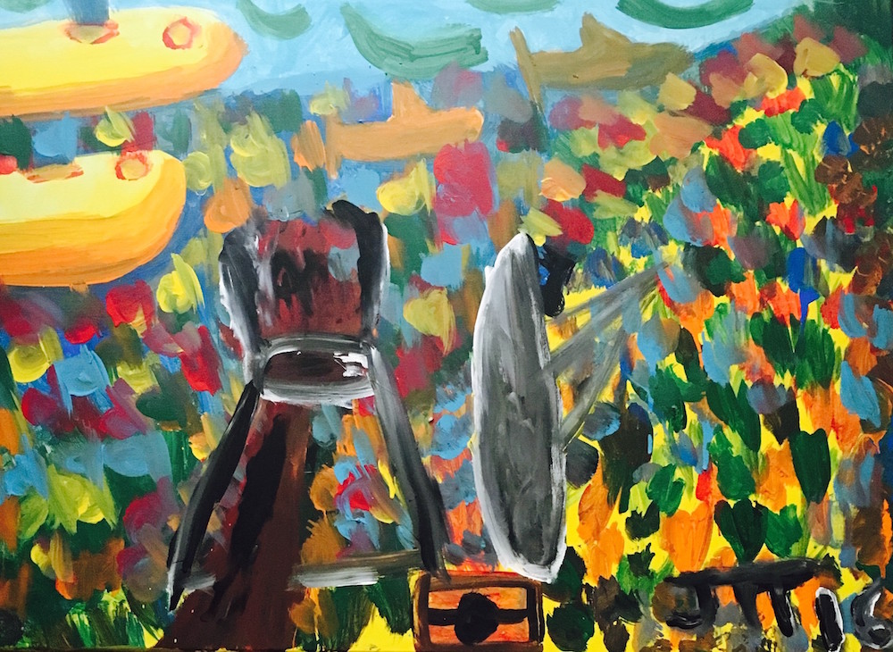 "Title: The Ocean Medium: Acrylic on Canvas Size: 40""x30"""