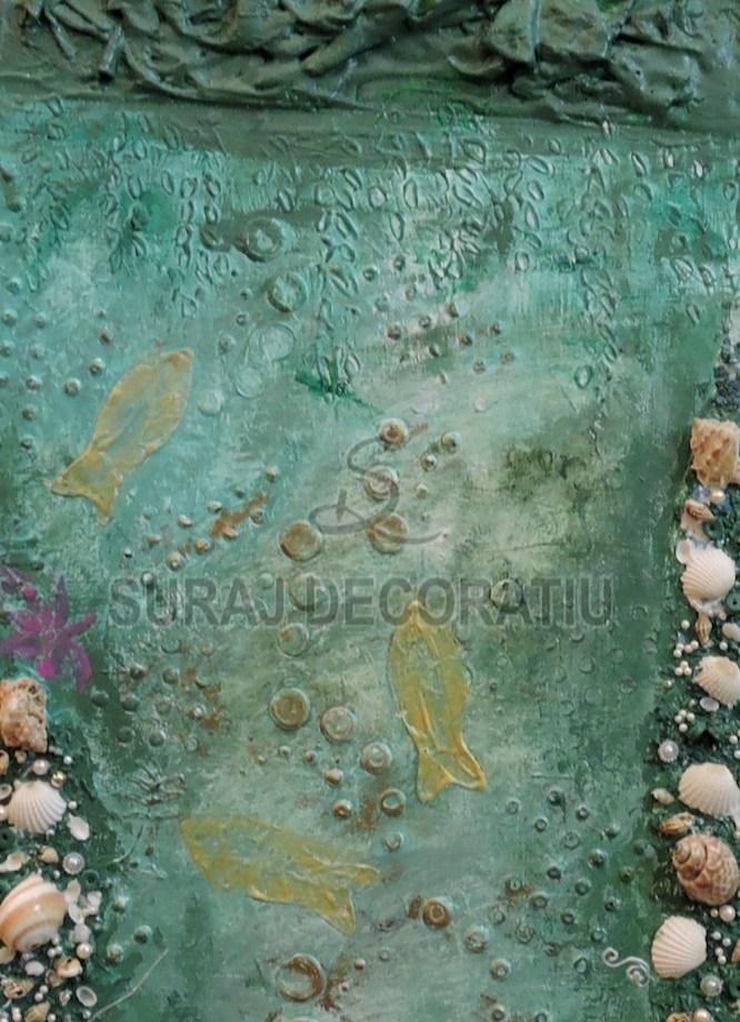 Title: Floral Glass Art Medium: Glass Size: 18X1X26