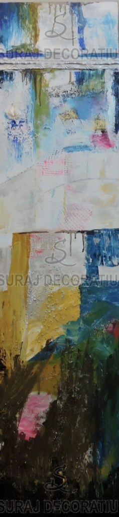 Title:Sky Mood Wall Art Medium: Mixed-Media Size:12x1x48