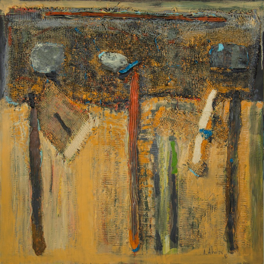 Title Forgotten Words Medium Mixed Media on Panel Size 30x30x1.5 in