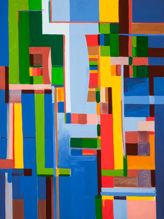 "Title Blues for Brzezinski Medium Oil on canvas Size 40"" x 30"""