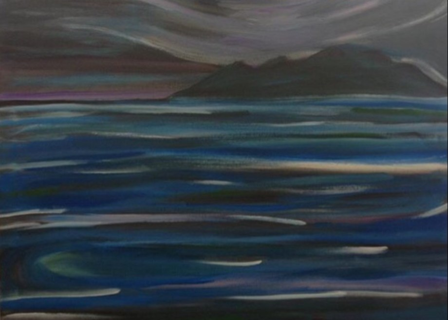 Title Morro Bay at sundown Medium Acrylic