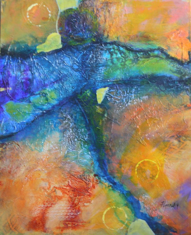 Title Seeker of Light Medium Acrylic Size 20x16