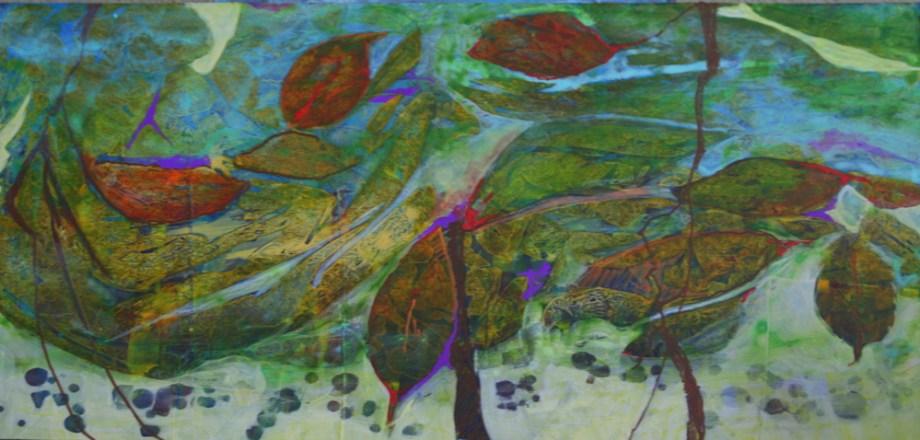 Title Wet Spring Medium Acrylic Size 12x24