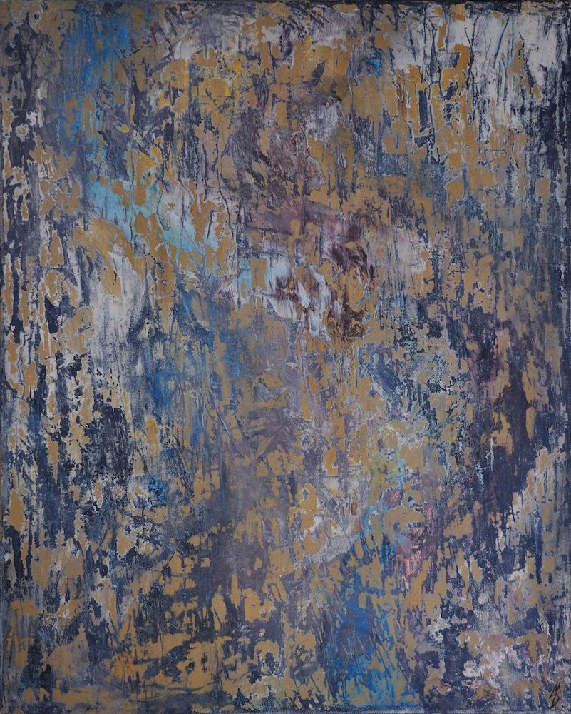 "Title Abstract I Medium Acrylics Size 30"" x 24"""