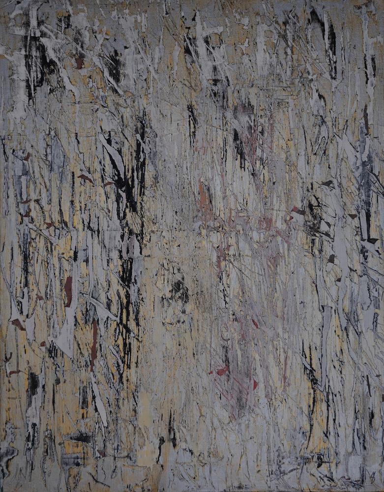 "Title Abstract II Medium Acrylics Size 28"" x 22"""