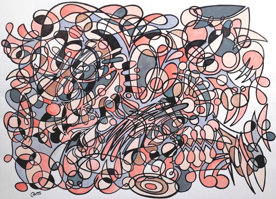 Title Serenity Medium Acrylic Size 41 x 29 cm