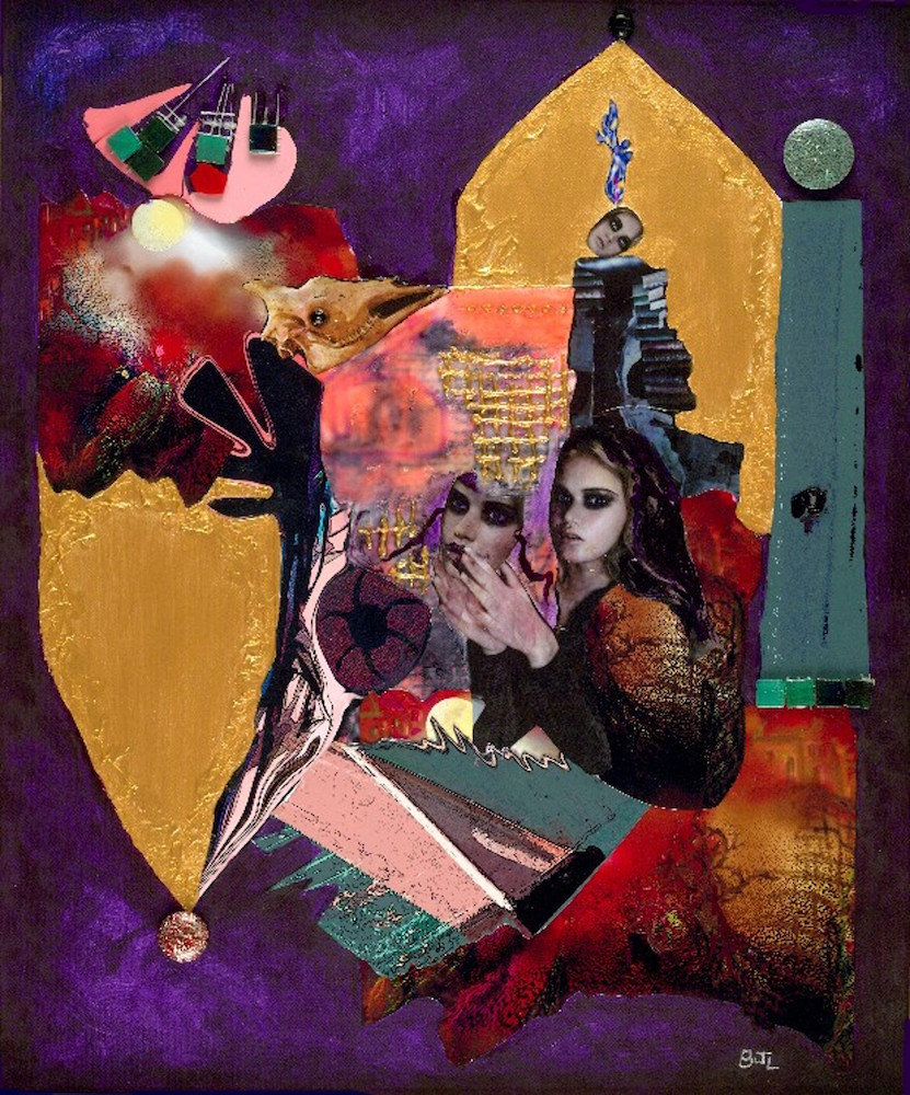 "Title Masquerade Medium Mixed Media Size 25""x28"""