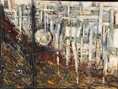 Title:Seeing Madness Medium:Oils/Mixed-media Size:36''x48''
