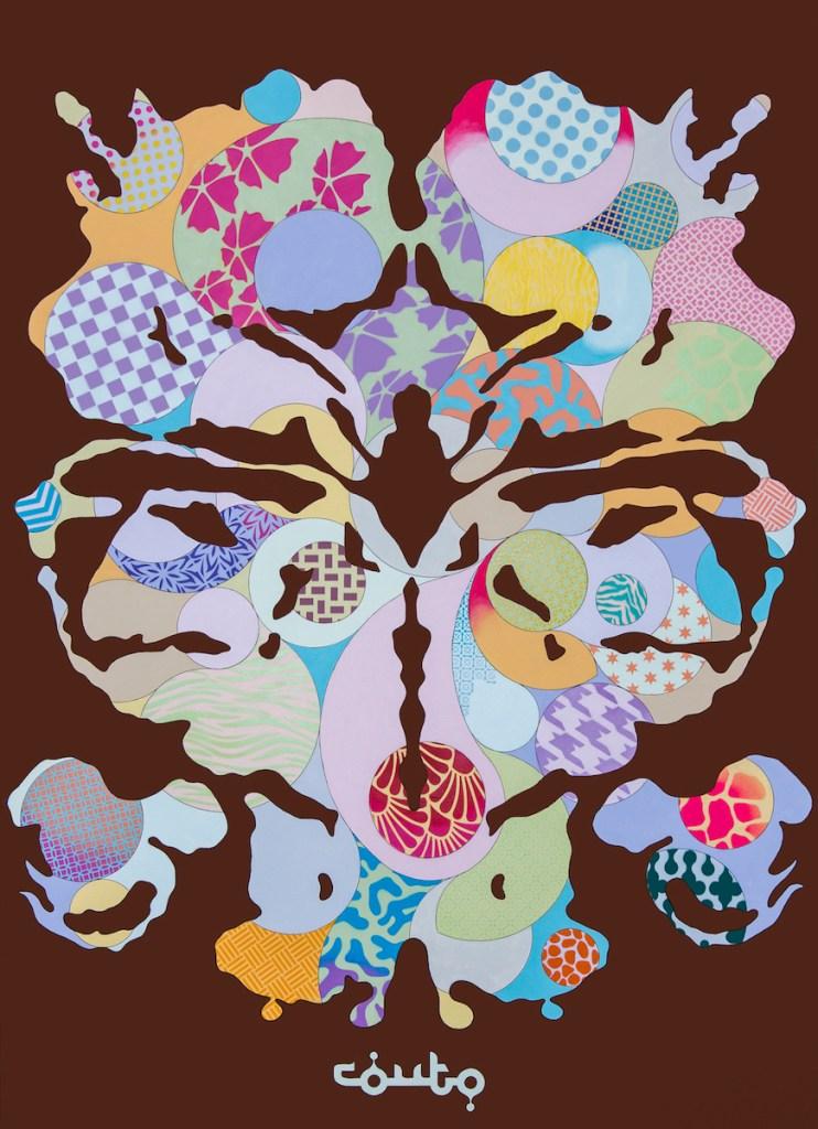 Title:Inkblot II Medium:Acrylic on Canvas Size:7ft x 5ft