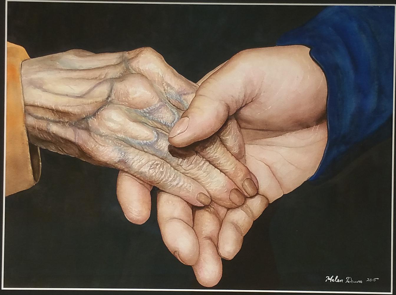 "Title: oneness Medium: Watercolor Size: 20""x30"""