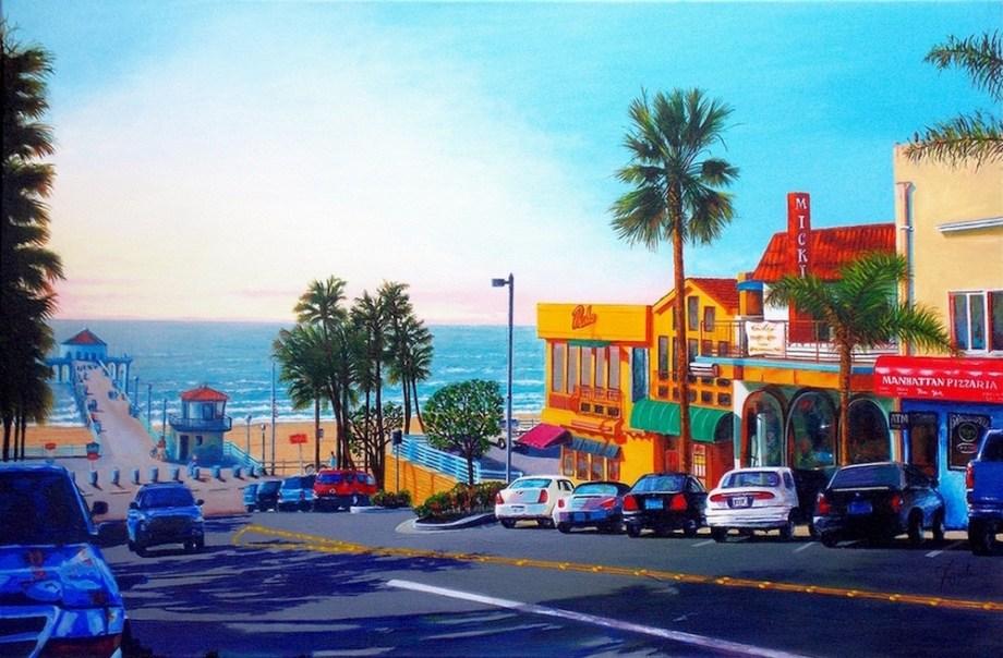"Title:Beach Shadows Medium:Acrylic Size:24"" x 36"""