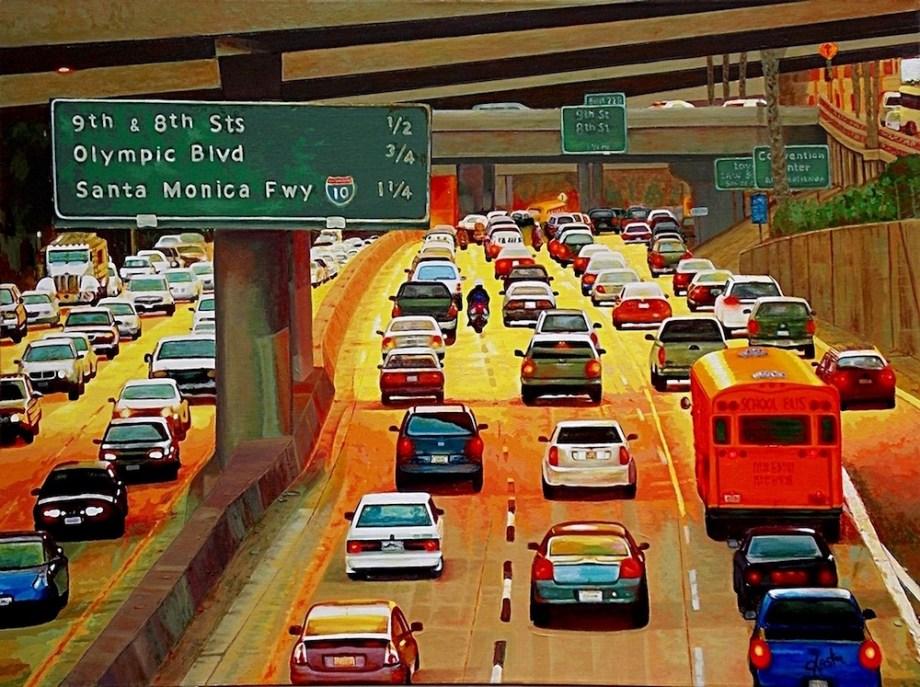 "Title:LA Commute Medium:Acrylic Size:30"" x 40"""