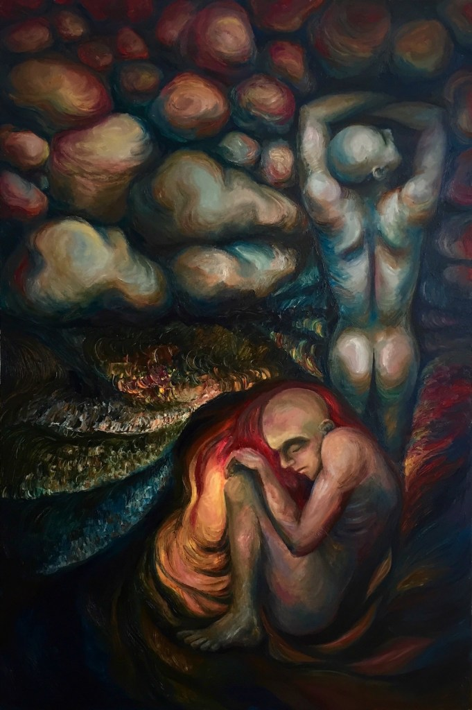 Title:I AM EVERY THING - Rock & Cave Medium:Oil on Canvas Size:80x120cm