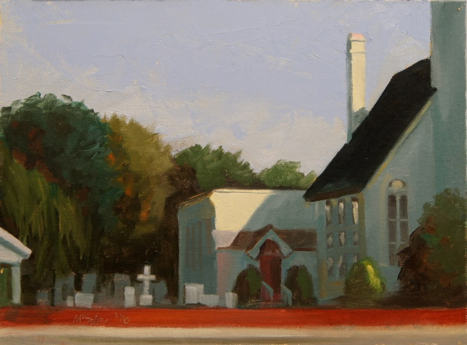 "Title:St. Paul's, Berlin , MD. Medium:	oil Size:	9"" x 12"""