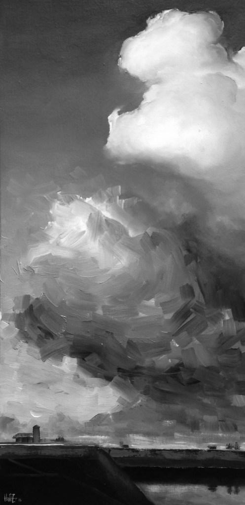 Title:AIR 36 Medium:oil on wood panel Size:23 x 11 inch / 60 x 30 cm
