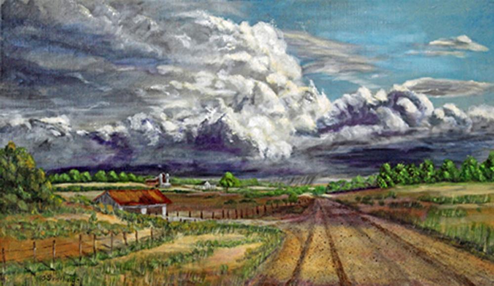 Title: Tornado Alley Medium: Acrylics Size: 18 x 30