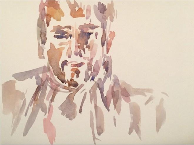 "Title:Michael Medium:watercolor Size:8"" x 11"""