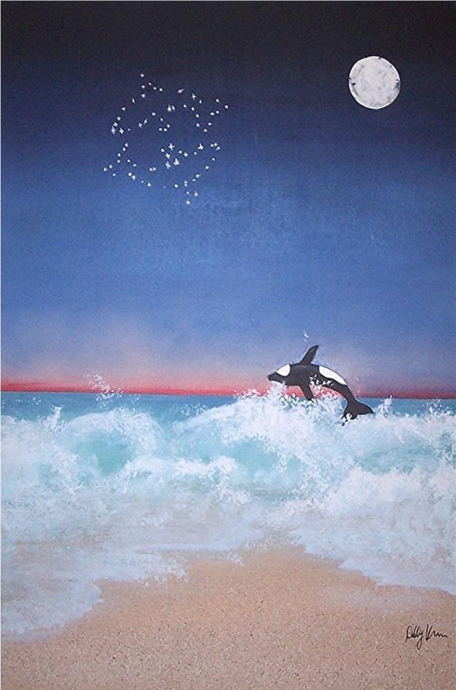 "Title:Age of Pisces - Halexandria Medium:Acrylic on Canvas Size:36""x 24"""