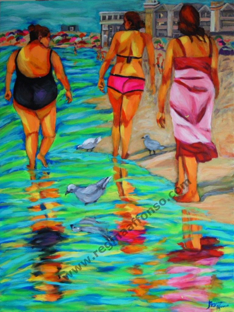 Title:Barra's beach Medium:	acrylic s/ canvas Size:	60X80cm