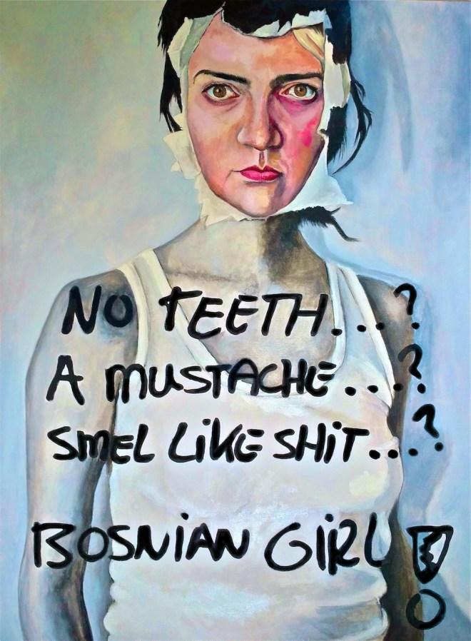 Title:Bosnian Resurrection Medium:Oil on canvas Size:W 36 in. x H 48 in.