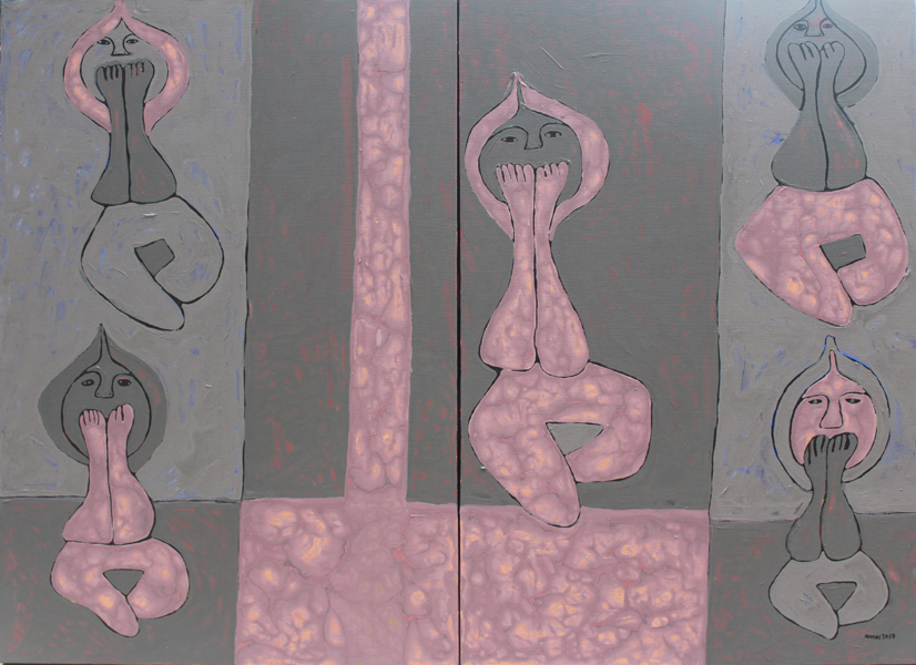 Title: Speak No Evil Medium: Acrylic On Canvas Size: 87cm X 120cm