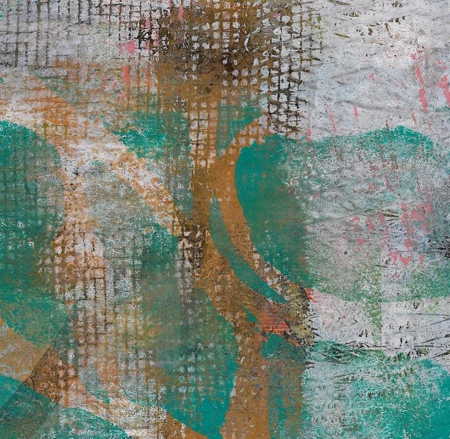 """Title:Gold Within Medium:Acrylic and Mixed Media Size:6.5"""" x 3.5"""""""