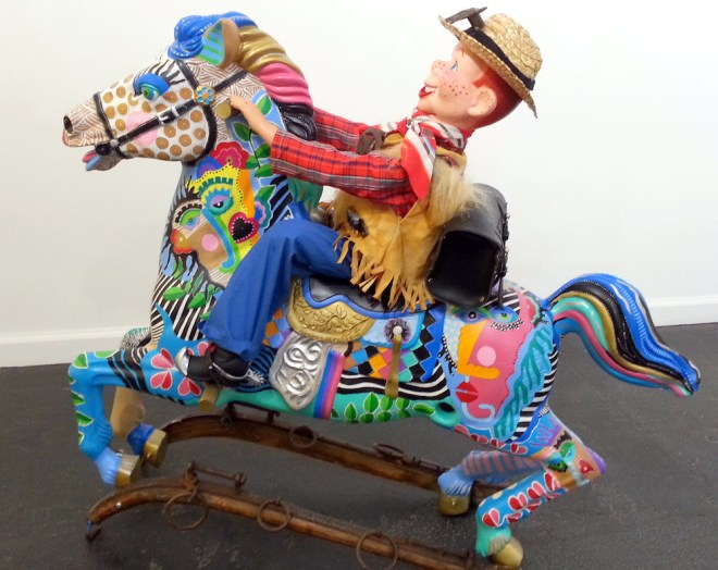 Title:Howdy Partner Medium:	recycled found objects Size:	43L x 36H x 15 D