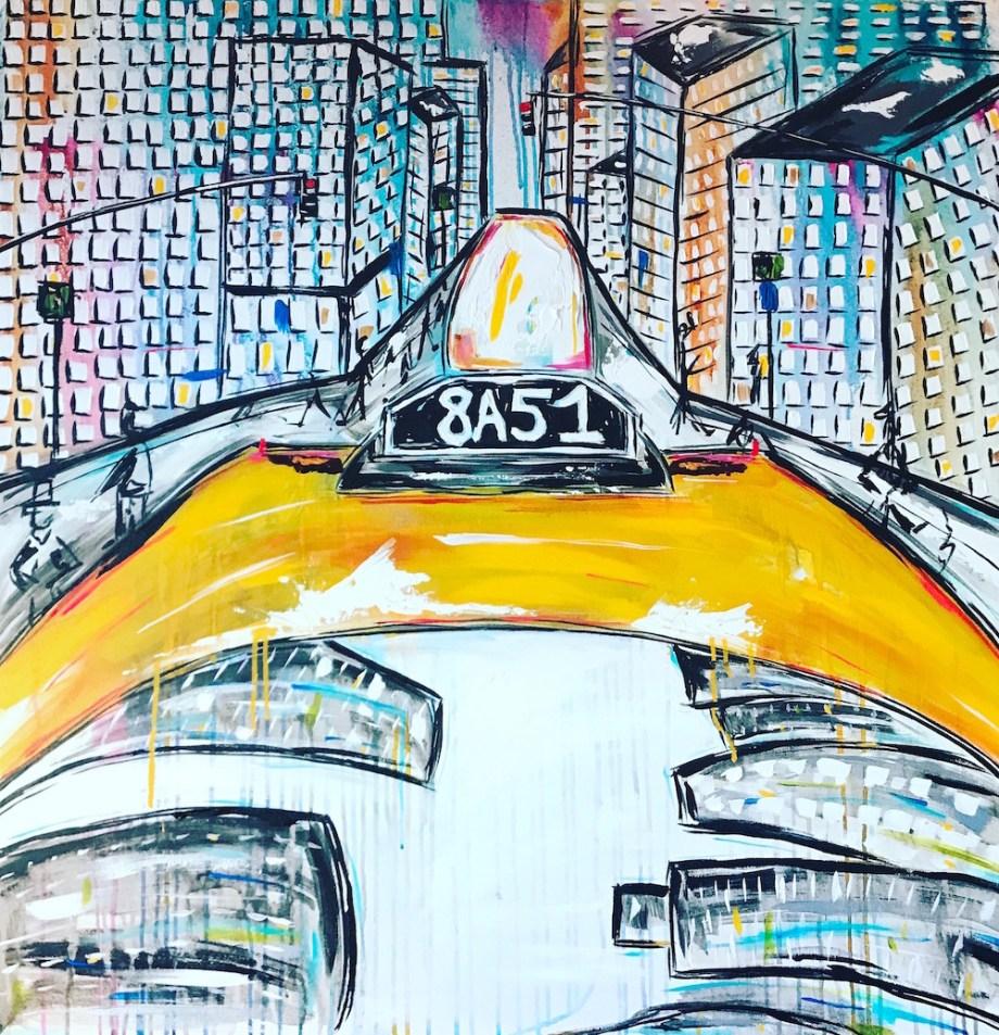 Title:Yellow Cabie Medium:Acrylic Size:36x36
