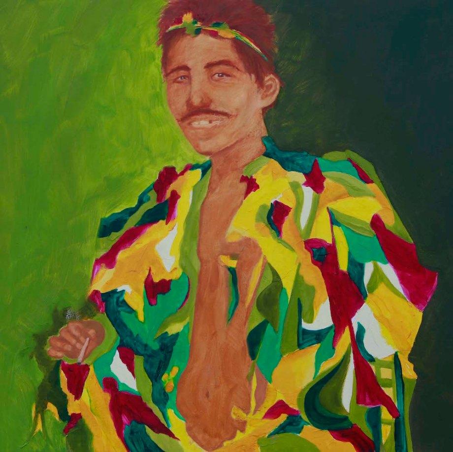 """Title:Rag Man New Orleans Medium:Oil Paints/ Canvas Size:36"""" x 36"""""""