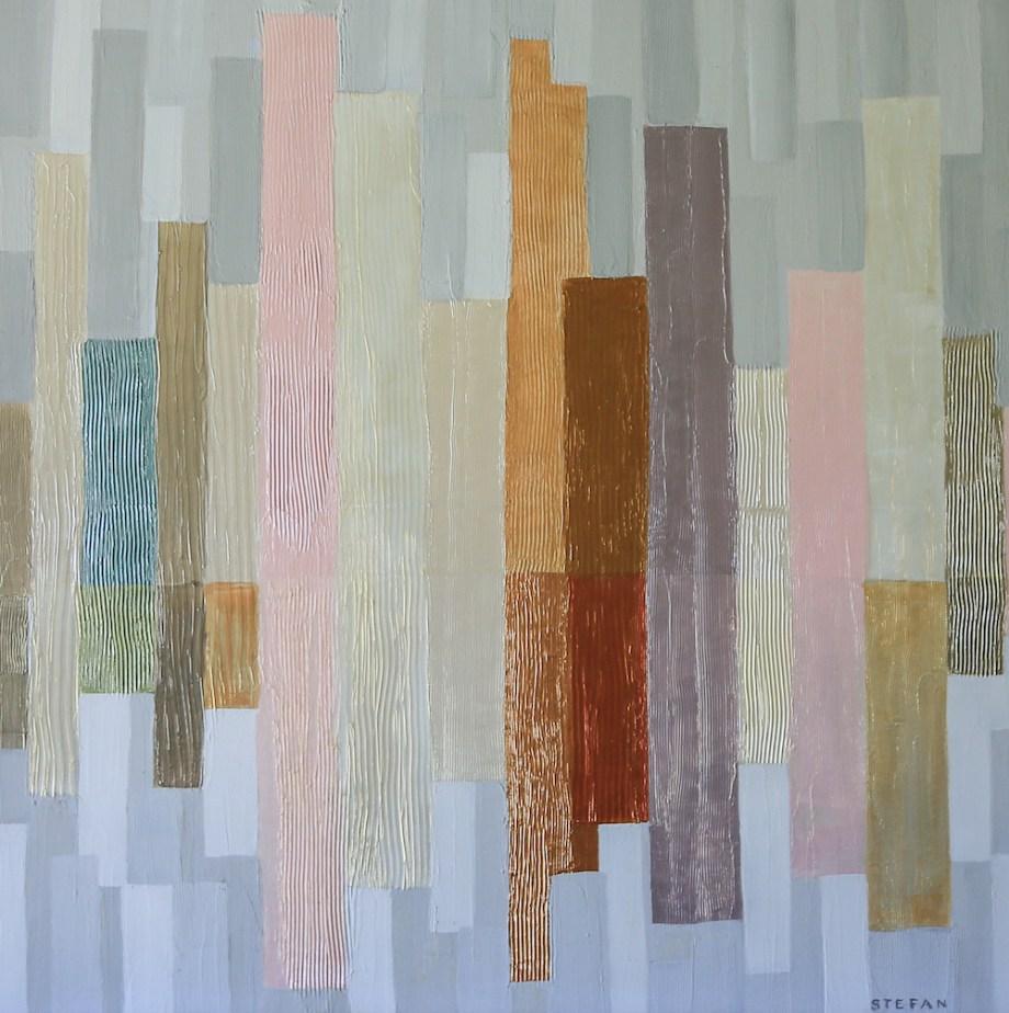 "Title:City Impressions Medium:Acrylic/ Acrylic Mediums Size:30"" x 30"""