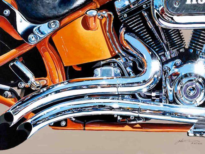 "Title:Iron Horse Sunset Medium:Acrylic on canvas Size:36"" x 48"""