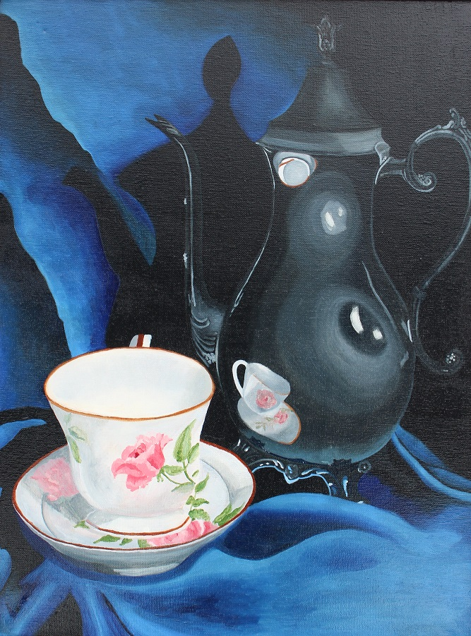 Title:My Cup of Tea Medium:	Oil Paint Size:	18x 24 Inches