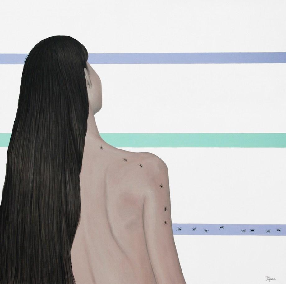 Title:I Let Myself Go Medium:Acrylic Size:80x80 cm (31,5x31,5 in)