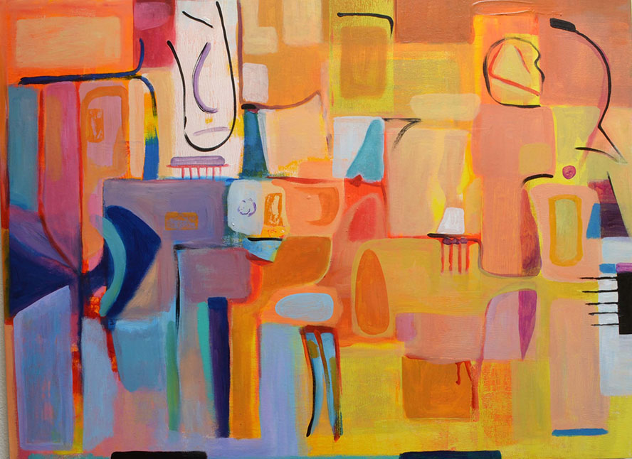 """Title:Color Abstract 2 Medium:Acrylic on canvas Size:30""""x40"""""""
