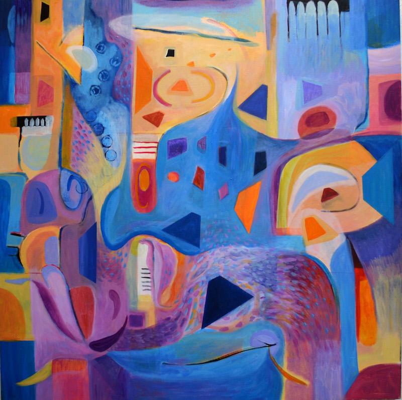 "Title:Birth of Cool Medium:Acrylic on canvas Size:40""x40"""