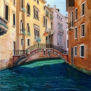 Title: Venice Canal Medium: Acrylic Size: 20x24