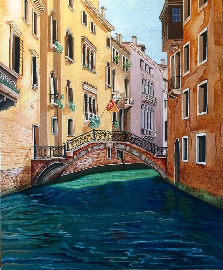 Title:Venice Canal Medium:Acrylic Size:20x24