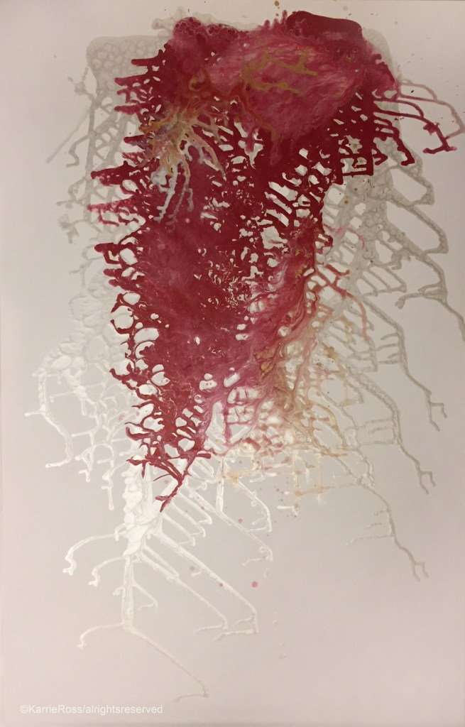 "Title:Red Zen Medium:acrylic Size:58""x36"""