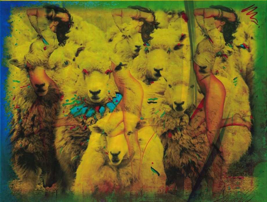 Title:Wolves in Sheep's Clothing Medium:	watercolor mixed media Size:	17x19