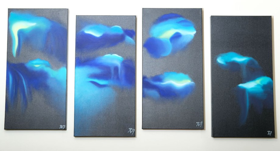 Title:The Storm Within Medium:	Oil on canvas Size:	4 canvases of 24 x 12 inch each