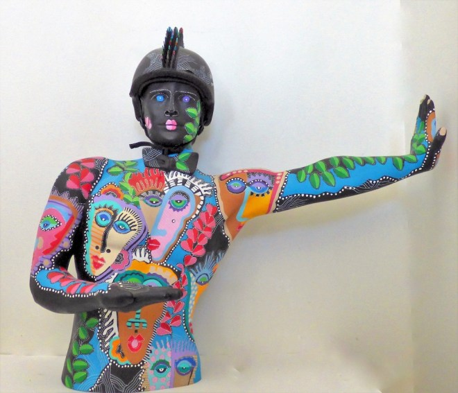 Title:Stop In The Name Of Love Medium:Recycled found objects Size:33H x 38W 20x D
