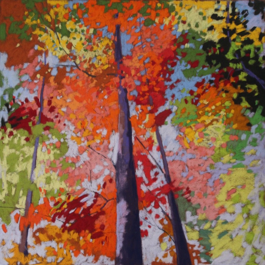 "Title: Forest Medley Medium: pastel Size: 19"" x 19"""