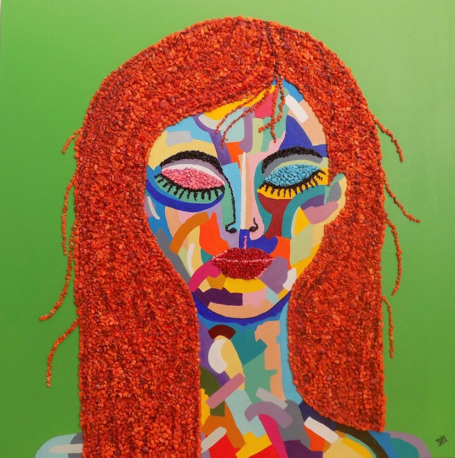 Title:Fauve III Medium:Mixed Media and Acrylic Paint on canvas Size:30 x 30